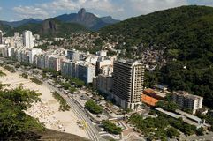 Copacabana. View from copacabana Beach, Rio de Janeiro, Brazil stock images