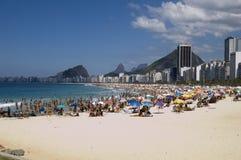 Copacabana. View from copacabana Beach, Rio de Janeiro, Brazil royalty free stock photos