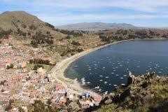 Copacabana-Ackerland auf dem Titicaca See Stockfotos