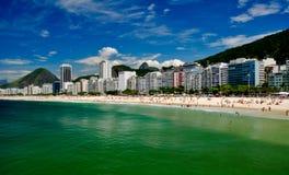 Copacabana Beach. Hot summer day in Rio de Janeiro Stock Photos