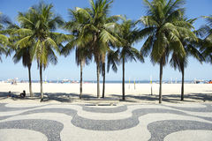 Copacabana Beach Boardwalk Pattern Rio de Janeiro Brazil Royalty Free Stock Photography