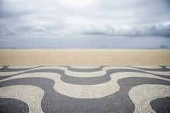 Copacabana Beach Boardwalk Rio de Janeiro Brazil Royalty Free Stock Photo