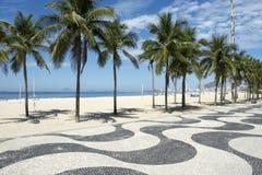 Copacabana Beach Boardwalk Rio de Janeiro Brazil Royalty Free Stock Images