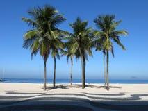 Copacabana beach. In Brazil. A sunny day royalty free stock photo