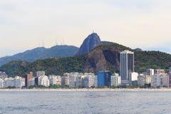 Copacabana beach Christ the Redeemer Corcovado, Rio de Janeiro Stock Photography