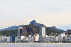 Copacabana beach Christ the Redeemer, Rio de Janeiro Stock Photography