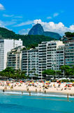 Copacabana Beach. The famoust beach in Rio de Janeiro, Brazil Stock Images
