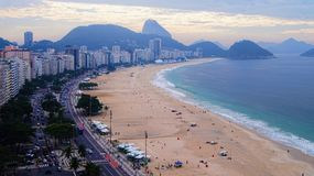 Copacabana Beach During Football Festival Royalty Free Stock Photo