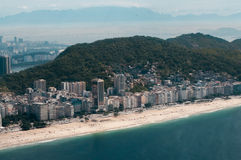 Copacabana Beach - Helicopter View Stock Images
