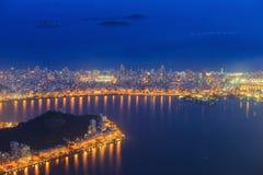 Copacabana Beach and Ipanema beach in Rio de Janeiro, Brazil Stock Photos