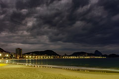 Copacabana beach lights Royalty Free Stock Photo