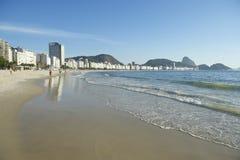 Copacabana Beach Morning Rio de Janeiro Brazil Royalty Free Stock Photo