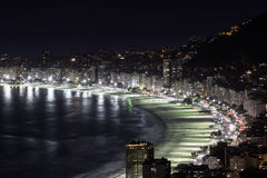 Copacabana Beach at night Stock Images