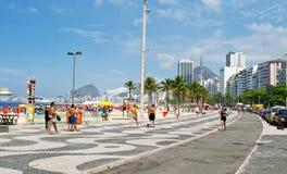 Copacabana beach in Rio de Janeiro Royalty Free Stock Images