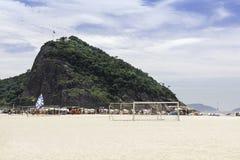 Copacabana Beach in Rio de Janeiro royalty free stock photos