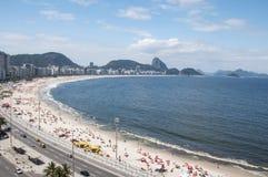 Copacabana. Beach in Rio de Janeiro, Brazil Royalty Free Stock Photos
