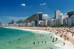 Copacabana beach in Rio de Janeiro Stock Photography