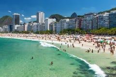 Copacabana beach in Rio de Janeiro Royalty Free Stock Photo