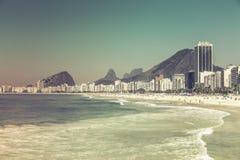 Copacabana Beach in Rio de Janeiro Stock Images