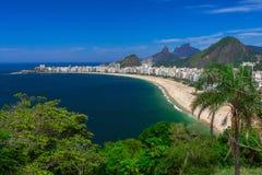 Copacabana beach in Rio de Janeiro Royalty Free Stock Photography