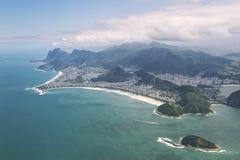 Copacabana Beach Rio de Janeiro Brazil Aerial View Stock Image