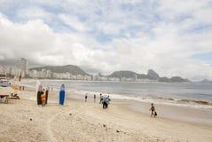 Copacabana Beach, Rio de Janeiro Stock Images