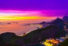 Copacabana beach in Rio de Janeiro. Brazil Stock Image