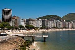Copacabana Beach in Rio de Janeiro, Brazil Royalty Free Stock Photos