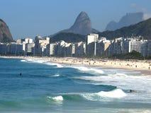 Copacabana beach. Rio de janeiro in a sunny day Royalty Free Stock Image