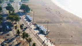Copacabana Beach Scene Activity Morning Royalty Free Stock Photo