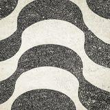 Copacabana Beach sidewalk mosaic, Rio de Janeiro Royalty Free Stock Images