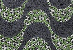Copacabana Beach sidewalk with soccer ball pattern. In Rio de Janeiro ,Brazil royalty free stock image