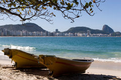 Copacabana Beach and Sugar Loaf Stock Photo