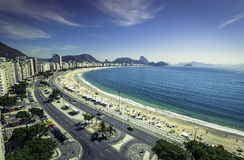 Copacabana Beach and Sugar Loaf Mountain,Rio de Janeiro Stock Photography