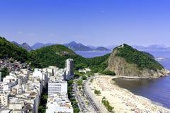 Copacabana beach on sunny day Stock Image