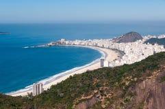 Copacabana Beach. View of the Copacabana Beach from the Sugarloaf Mountain, Rio de Janeiro, Brazil stock image