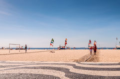 Copacabana beachlife Stock Photography