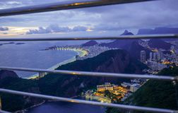 Copacabana, best top view Brazil today. Sugarloaf. stock photo