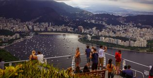 Copacabana, best top view Brazil today. Sugarloaf. royalty free stock photos