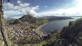 Copacabana Bolivia el lago Titicaca almacen de metraje de vídeo