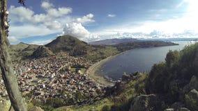 Copacabana Bolivia sjö Titicaca lager videofilmer