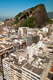 Copacabana Cantagalo w Rio De Janeiro i Favela Obraz Stock