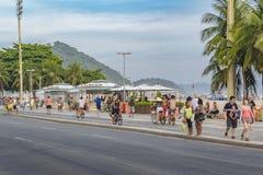 Copacabana chodniczek Rio De Janeiro Brazylia Zdjęcie Royalty Free