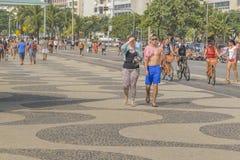 Copacabana chodniczek Rio De Janeiro Brazylia Obraz Stock