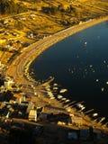 Copacabana city at Titicaca lake Royalty Free Stock Image