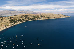 Copacabana city, Titicaca lake, Bolivia Royalty Free Stock Photography