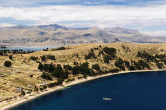 Copacabana city, Titicaca lake, Bolivia Royalty Free Stock Photography