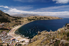 Copacabana city, Titicaca lake, Bolivia Royalty Free Stock Image