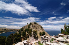 Copacabana city, Titicaca lake, Bolivia Royalty Free Stock Images
