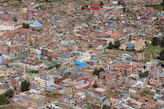 Copacabana city on the Titicaca lake Stock Photo